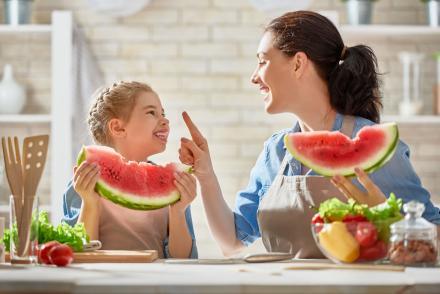 Egészséges étkezés gyerek együtt