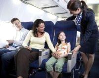család, repülőgép, repülés