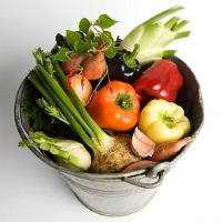 zöldség, gyümölcs, rák