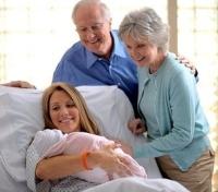 szülés, újszülött, kórház