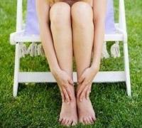 női láb, visszér, hab